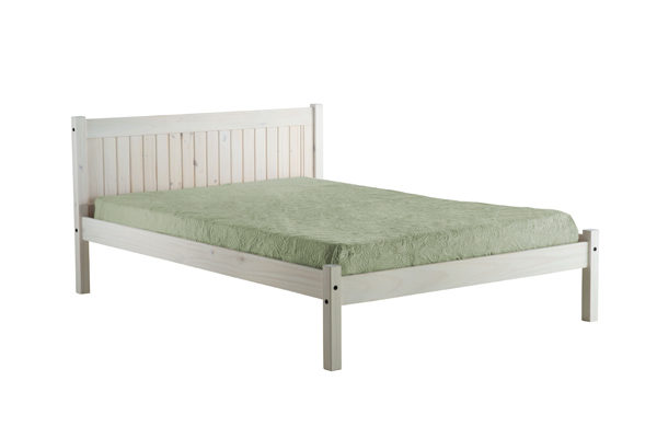 Rio Pine Bed Frame in White