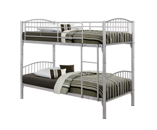 Corfu Metallic Finish Bunk Bed