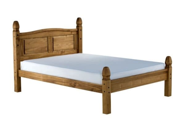Corona Low End Bed in Solid Pine
