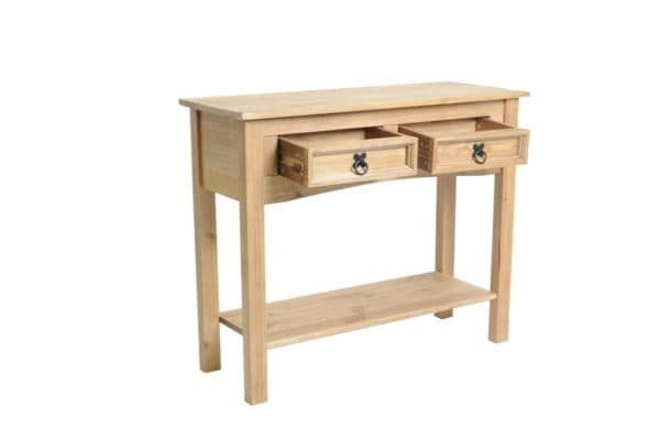 Corona 2 Drawer Console Table With Shelf-417