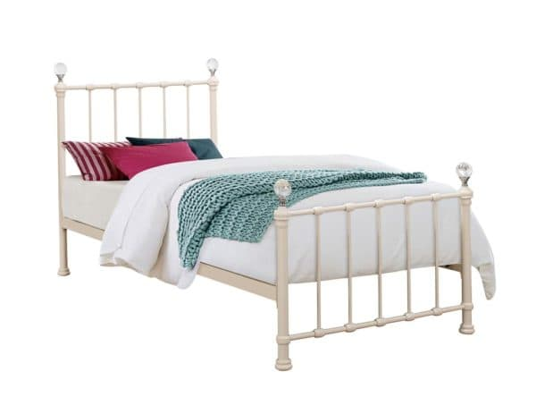 Jessica Metal Bed Frame in Creme
