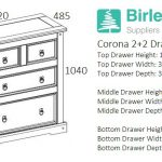 Corona 2+2 Drawer Chest-2667