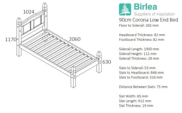 Corona Low End Bed-2434