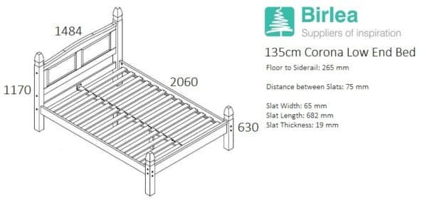 Corona Low End Bed-2435