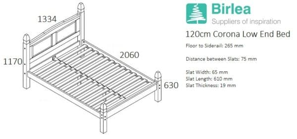 Corona Low End Bed-2436