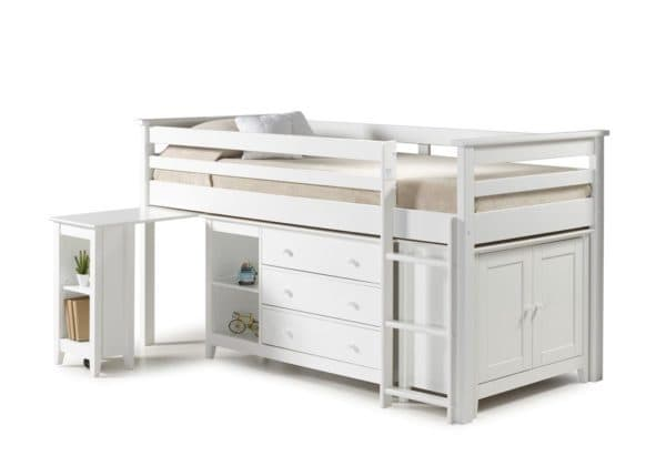 Cotswold High Rise Midi Sleeper Bed in White