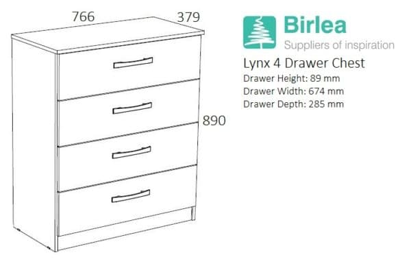 Lynx 4 Drawer Chest-2699