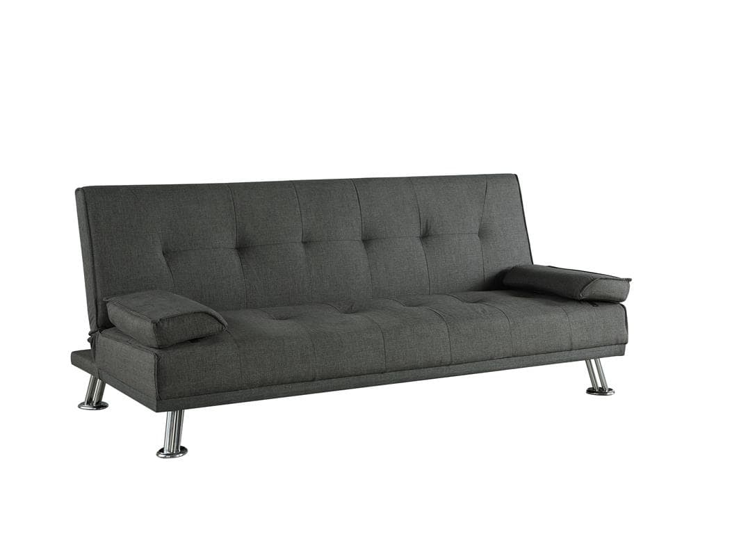 Stylish Logan Sofa Bed In Grey Fabric