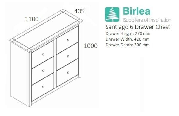 Santiago 6 Drawer Chest -3243