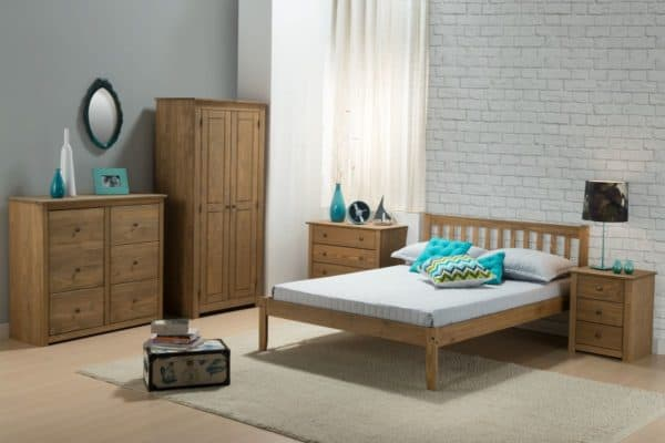 Santiago 3 Drawer Bedside-3252