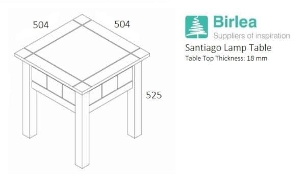 Santiago Lamp Table-3238