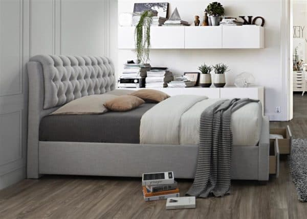 Valentino 2 Drawer Bed-7647