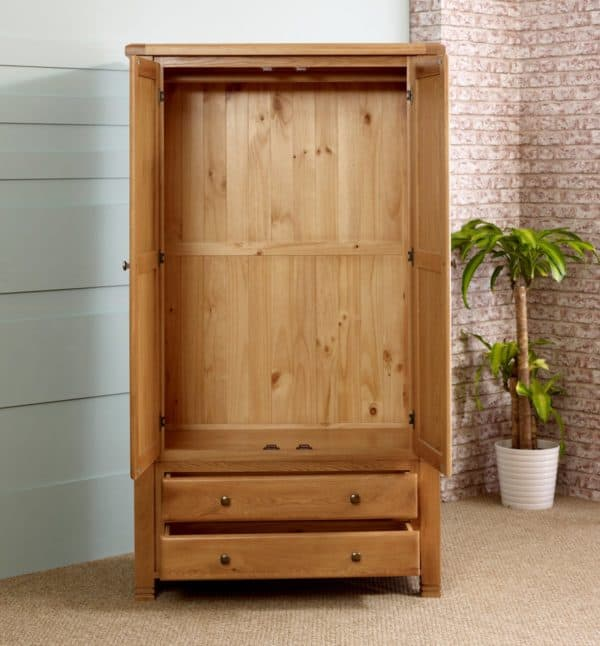 Woodstock 2 Door 2 Drawer Wardrobe-4410