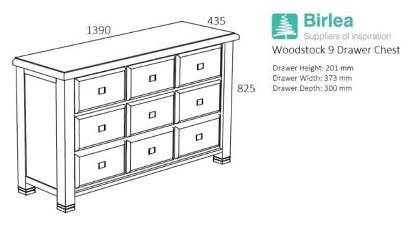 Woodstock 9 Drawer Chest-5069