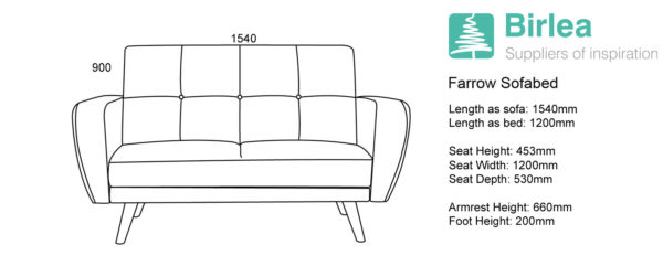 Farrow Medium Sofa Bed-6155