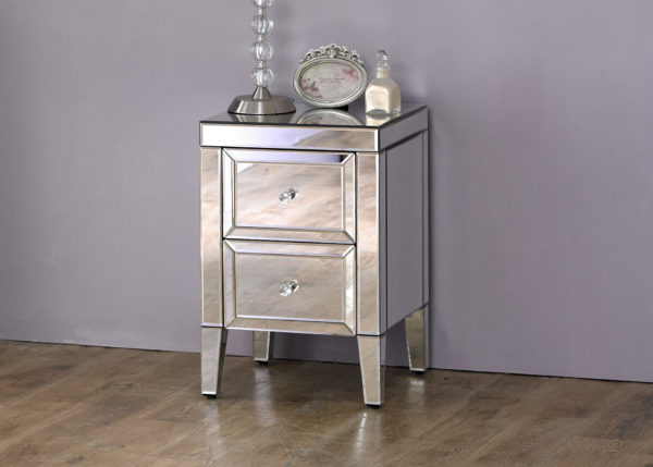 Valencia 2 Drawer Bedside-5246