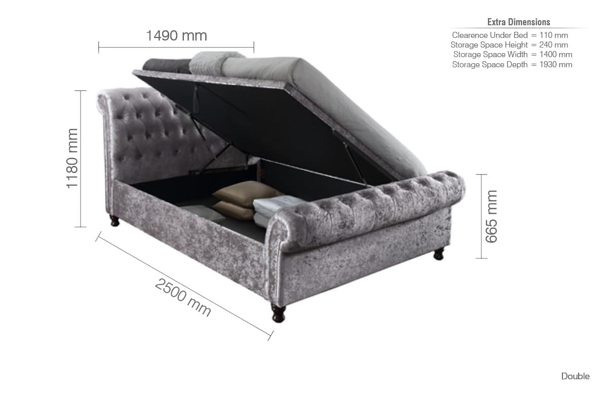 Awesome Castello Side Ottoman Bed Ncnpc Chair Design For Home Ncnpcorg