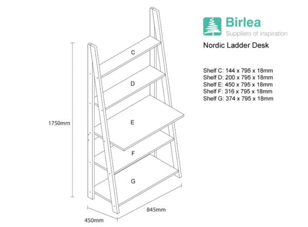 Nordic Ladder Desk-6087