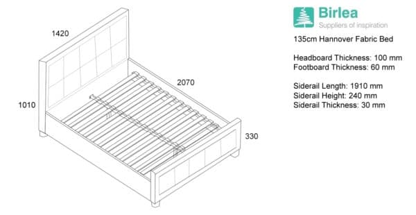 Hannover Fabric Bed-6417