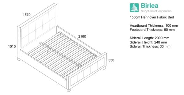 Hannover Fabric Bed-6418