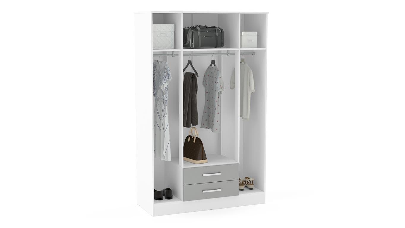 Lynx 4 Door 2 Drawer W/mirror White & Grey-6641