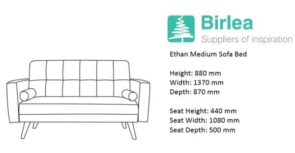 Ethan Medium Sofa Bed-7333