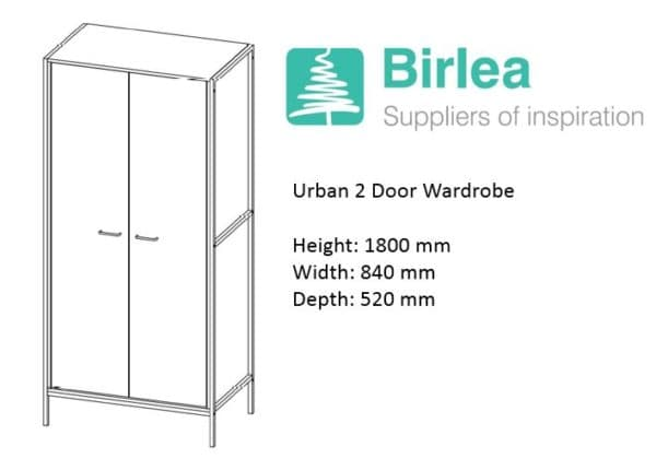 Urban 2 Door Wardrobe-7367