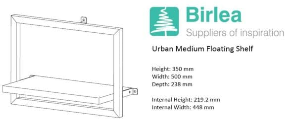 Urban Medium Floating Shelf-7447