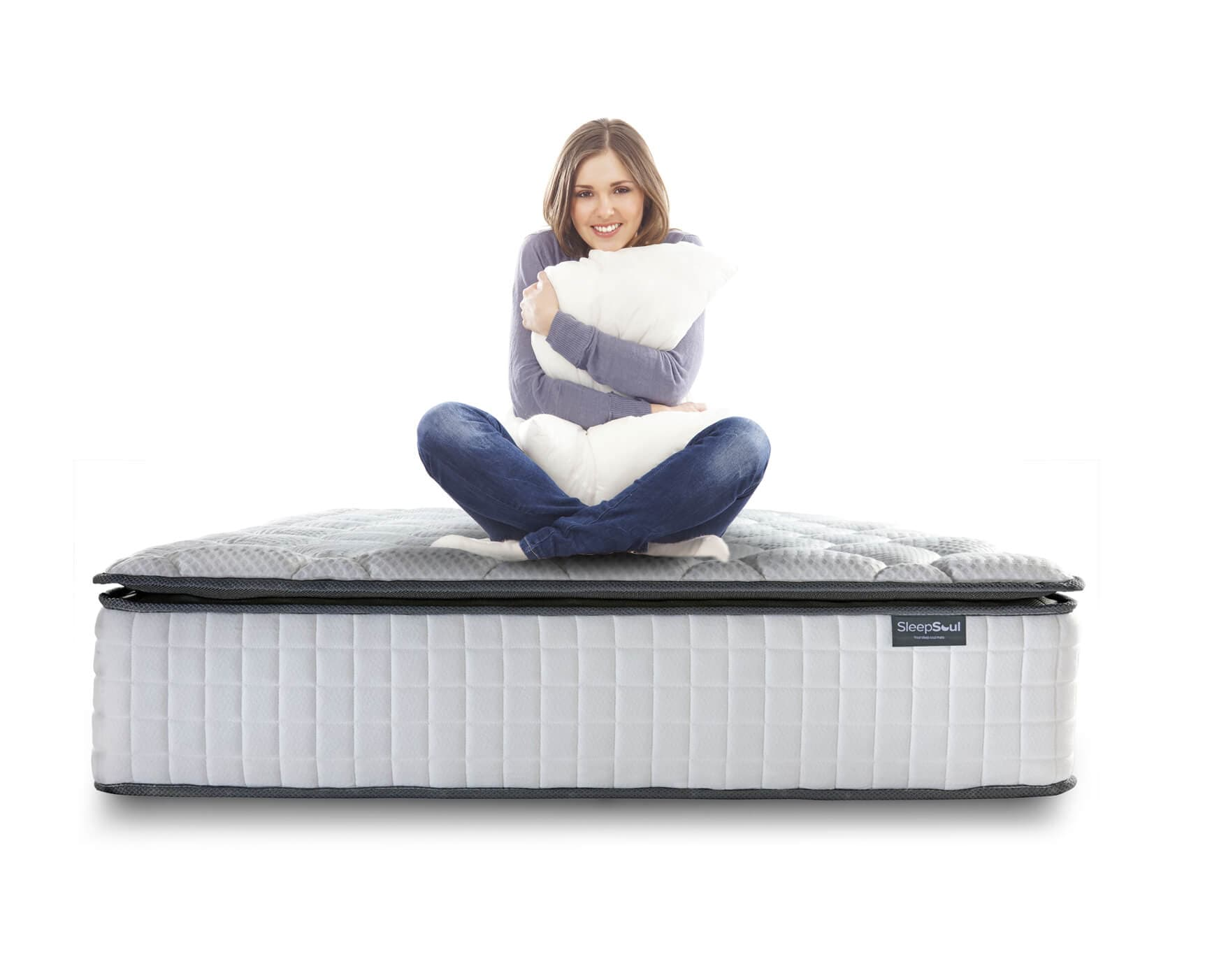 Lady sat on Sleep Soul mattress